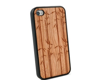 Bamboo Stems Wooden iPhone 4/4S Case for iPhone 4/4S Case