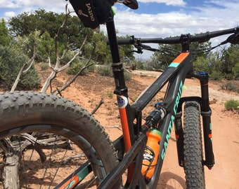 The Possm MTB : A Mountain Bike Racing Tool Roll.  Faster, Easier and Smarter than Your Saddle Bag. Hangs from your seat and holds it all.