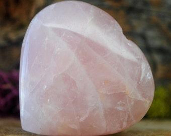 Rose Quartz Crystal Heart  - 947.15
