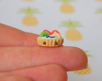 Fruit Tart- Polymer Clay Charm, Polymer Clay Jewelry, Charm, Cute, Kawaii