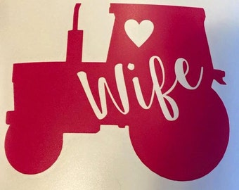 Farmer's Wife Vinyl Decal