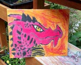 Red dragon paintings