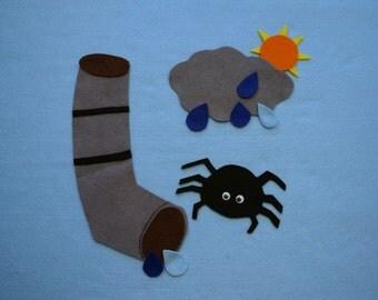 The Eensy Weensy Spider/Felt board story set/Flannel board story/Felt board story set/Felt board set/Felt board story/Flannel board set