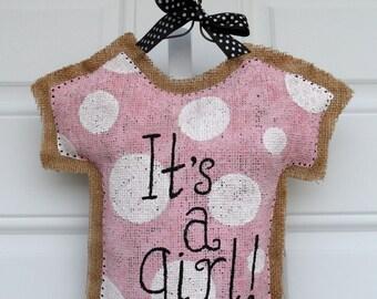 Baby Girl Decorative Door Hanger