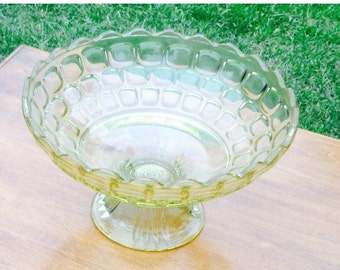 On Sale Vintage Glass Footed Bowl