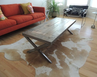 X series reclaimed wood coffee table