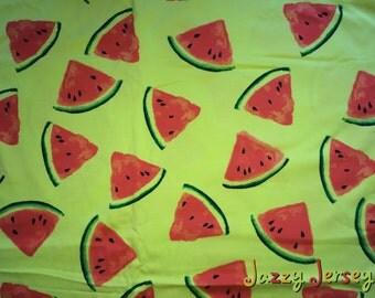 Watermelon jersey fabric
