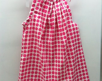 Pink Candy Dot Dress