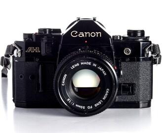 Canon A-1 Black 35mm SLR