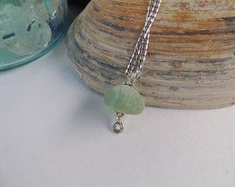 Genuine Opalescent English Sea Glass Necklace