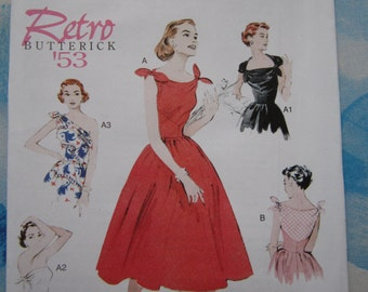Butterick 5708 Reproduction 1953 Dress Sewing Pattern 14-22
