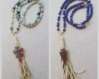 Beaded Tassel Arrowheads