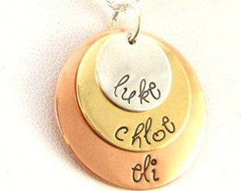 Cute Layered Disk Necklace
