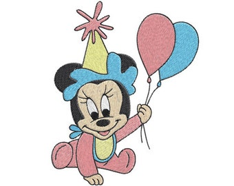 Baby minnie mouse Machine Embroidery Design -- SB501