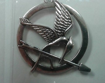 Hunger Games mocking jay Necklaces silver