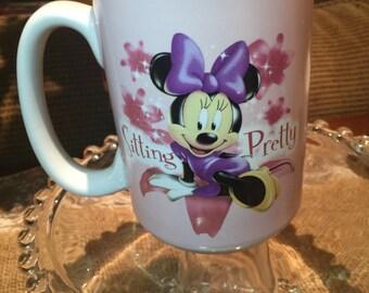 Minnie Mouse Disney Mug  SITTING PRETTY