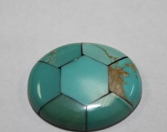 turquoise mosaic 19x23mm