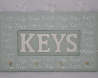 Key Hooks Key Rack  Keys Wooden Key Rack Pastel Sage Green F1175C