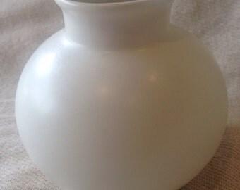 Poole Pottery White Matt Globe Vase Pot