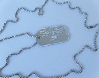 Nike dog tag chain