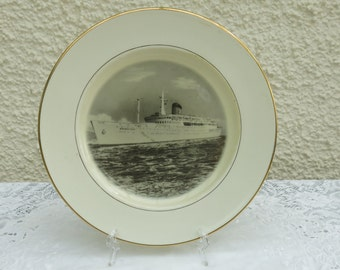SS Amerikanis Commemorative Plate