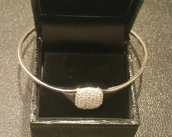 Sterling silver and Gemstones bangle
