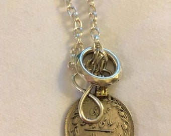 Infinity Coin Necklace