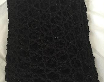 Glittering black shawl