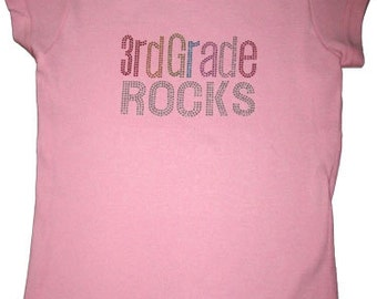 BACK TO SCHOOL-3rd Grade Rocks shirt