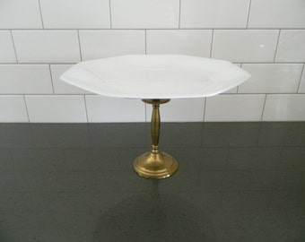 """Gold and White """"Lumiere"""" Dessert Stand"""
