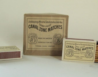 1930's Panama Canal Zone matches