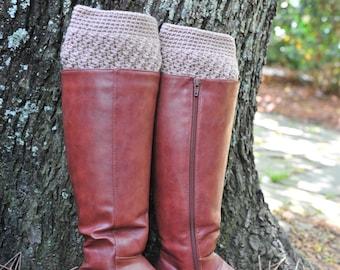 Crochet Boot Cuff,Boot Cuff,Khaki color Boot Cuff,Acrylic. MADE IN USA!