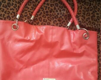 Coral Pink Large Kenneth Cole Reaction handbag