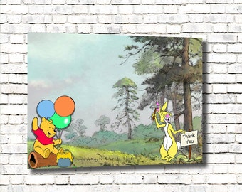 Winnie The Pooh Thank You Card