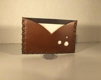 Men's Handmade Brown Men's Credit Card Wallet