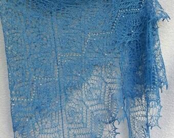"scarf ""Blue summer ""  handmade"