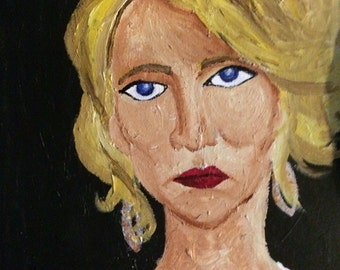 Jennifer Lawrence painting
