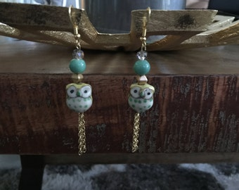 Adorable Owl Earrings
