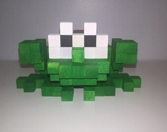 Frogger 3D-Holzskulptur