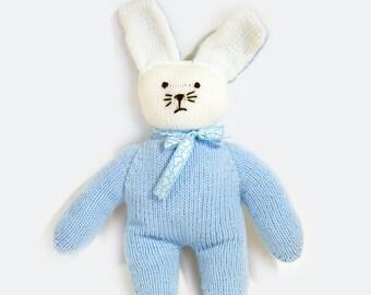 Woolen cuddly toy - Rabbit -hand-knitted, BébéNuage