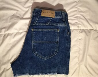 Riders High Wasted Denim Cut off Shorts (Waist: 28 in.)