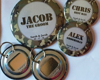 Personalized Bachelor Party Bottle Openers (Set of 5)