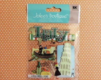 Italy scrapbook stickers by Jolee's Boutique