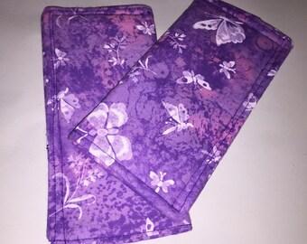 purple butterfly pot handle pad