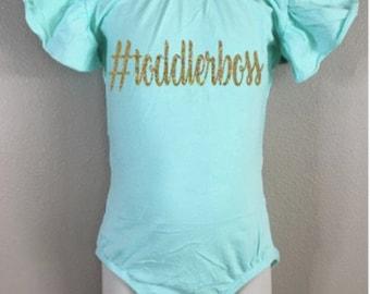 Leotard toddler girls flutter sleeve dancewear gymnast glitter personalized toddlerboss custom