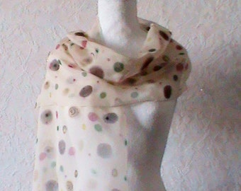 silk scarf, brown  ,green and red  silk scarf, silk scarves,