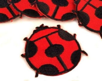 Ladybird Iron on Applique, Cute Red Ladybird