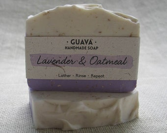Lavender & Oatmeal Handmade Cold Process Natural Essential Oil Shea Butter Cocoa Butter