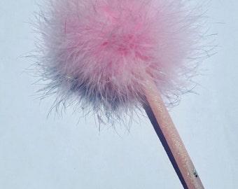 Hand Crafted Pretty Pink Pom Pom Pen