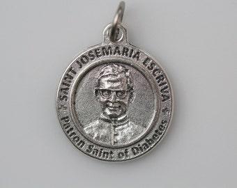Saint Josemaria Escriva Religious Healing Medal - Patron Saint of Diabetics - Made in Italy Catholic Religious Medal Jewelry Supply (M28)